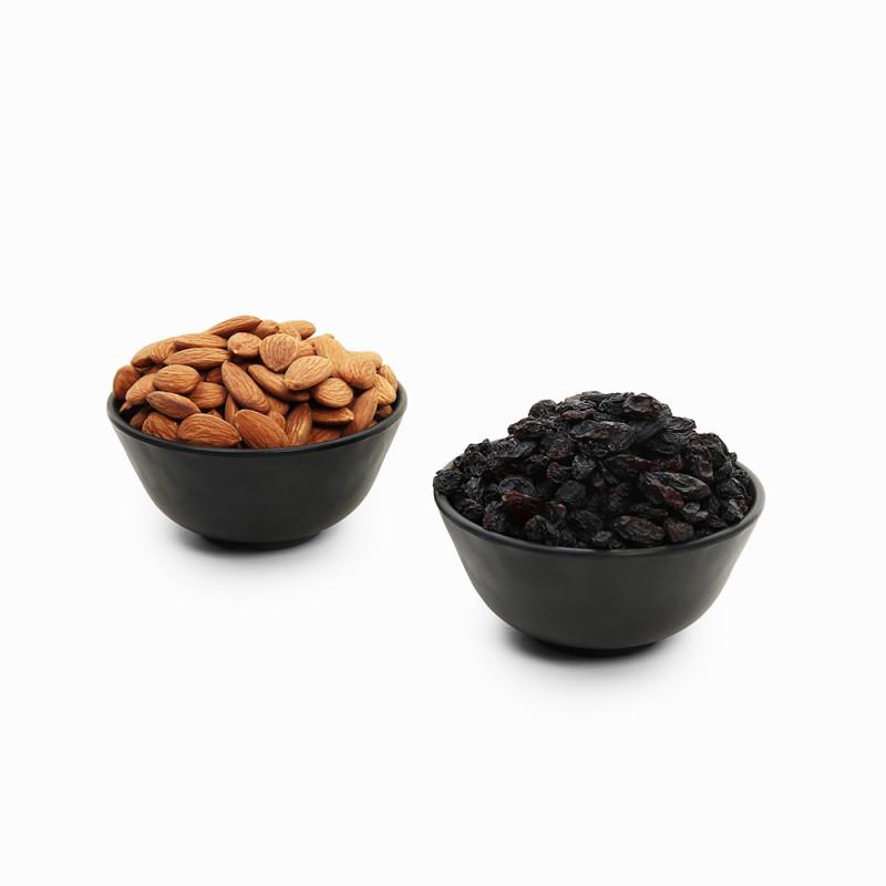 Premium Combo Black Raisin and Almond (Kali Kishmish and Badam)