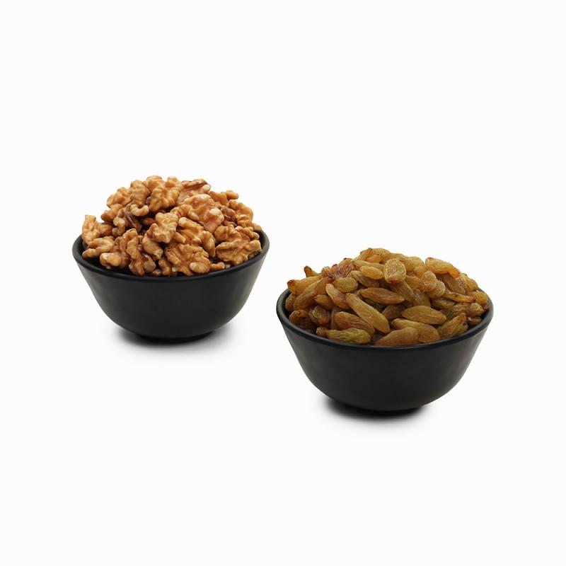 Premium Combo Green Raisin and Walnuts (Hari Kishmish and Akhrot)