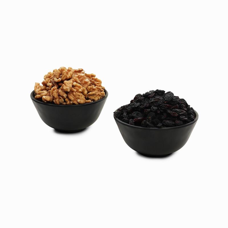 Premium Combo Black Raisin and Walnuts (Kali Kishmish and Akhrot)