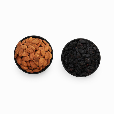 Premium Combo Black Raisin and Almond (Kali Kishmish and Badam)