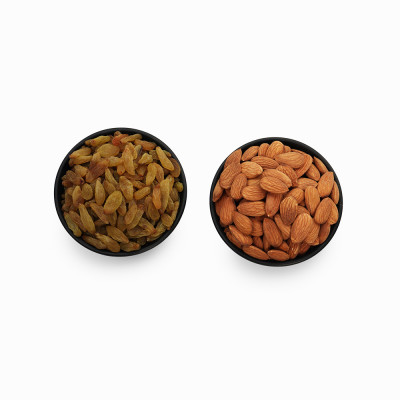 Premium Combo Green Raisin and Almond (Kishmish and Badam)