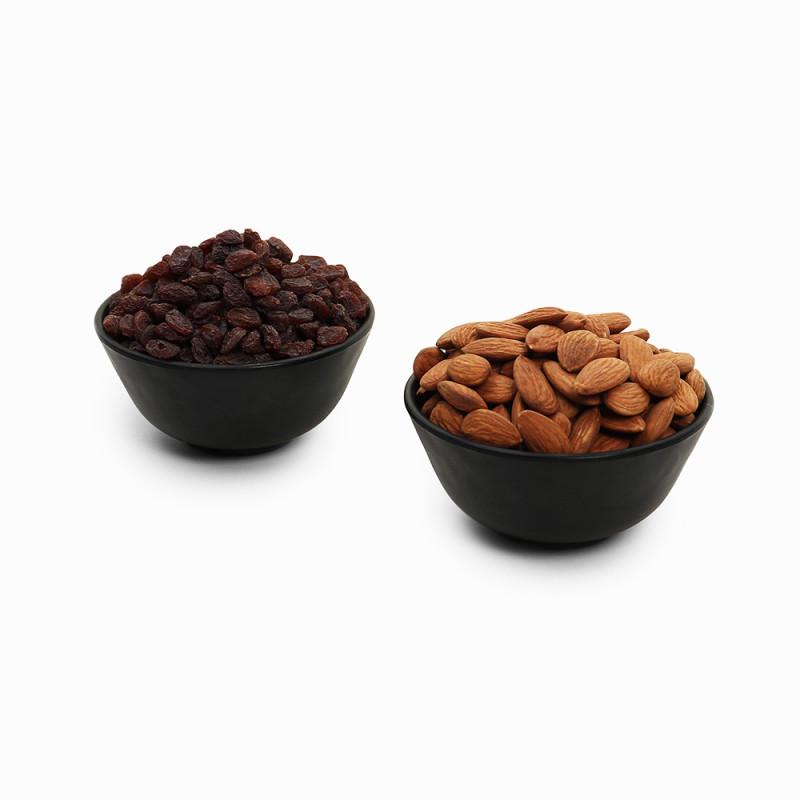 Premium Combo Red Raisin and Almond (Lal Kishmish and Badam)