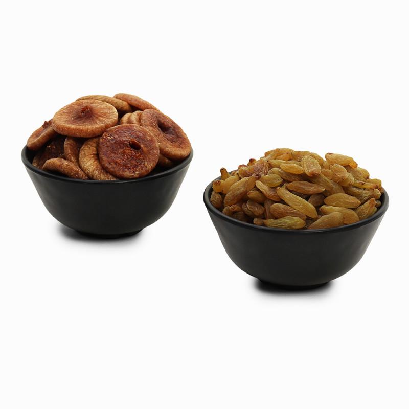 Premium Combo Green Raisin and Figs (Kishmish and Anjeer)