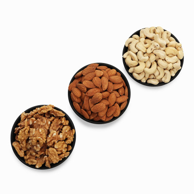 Premium Value Pack of Walnut, Cashew and Almond (Akhrot, Kaju, Badam)