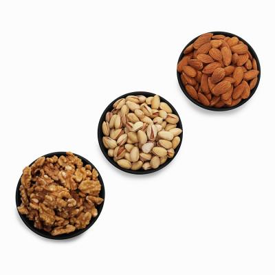 Premium Value Pack of Walnut, Pistachio and Almond (Akhrot, Pista, Badam)
