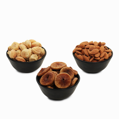 Premium Value Pack of Almond, Fig, and Apricot (Badam, Anjeer, Khubani)