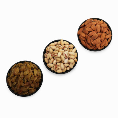 Premium Value Pack of Almond, Pistachio, and Green Raisin (Badam, Pista, Hari Kishmish)
