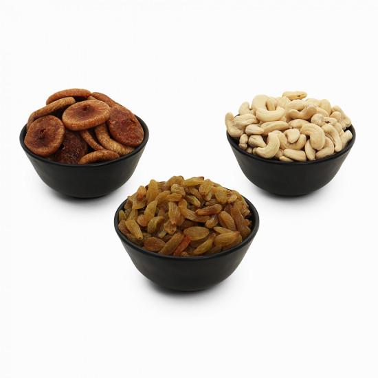Premium Value Pack of Cashew, Green Raisin, and Fig (Kaju, Hari Kishmish, Anjeer)