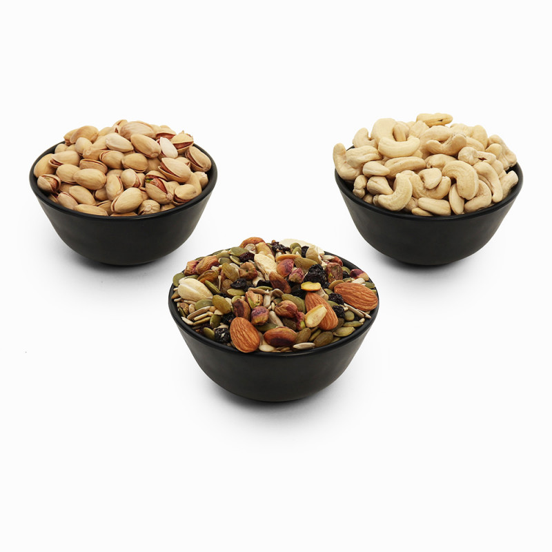 Premium Value Pack of Cashew, Pistachio, and Trail Mix (Kaju, Pista, Trail Mix)
