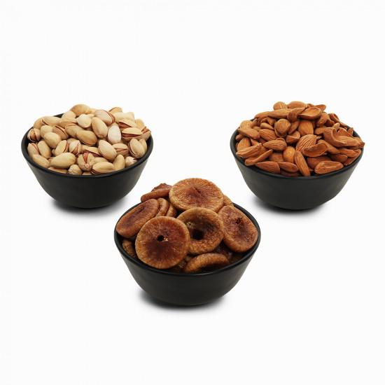 Premium Value Pack of Mamra, Pistachio, and Fig (Mamra, Pista, Anjeer)