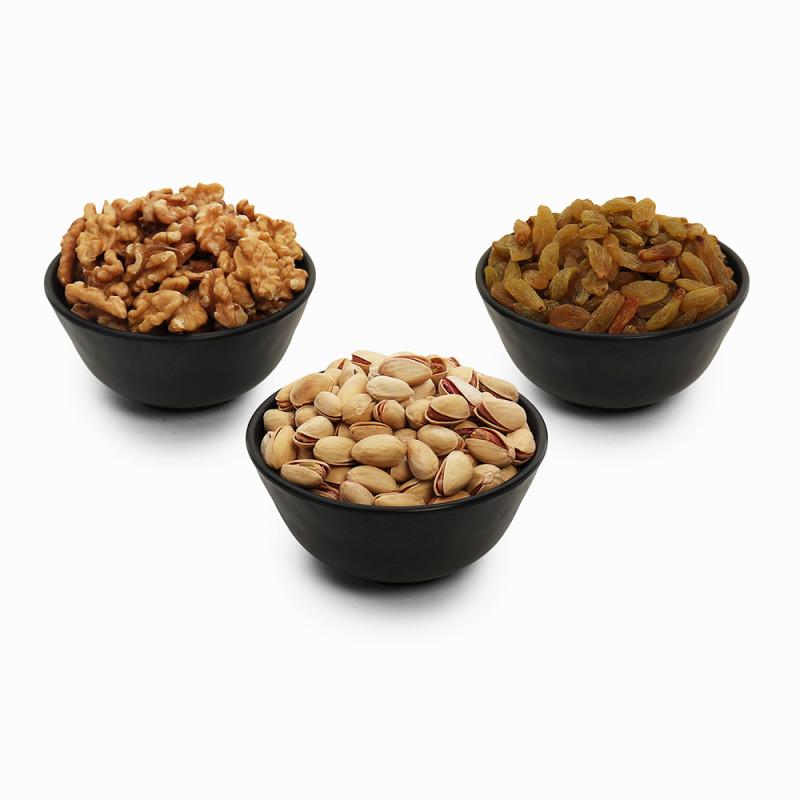 Premium Value Pack of Pistachio, Green Raisin, and Walnut (Pista, Hari Kishmish,Akhrot)
