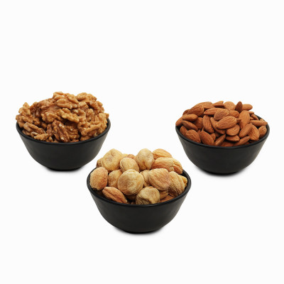 Premium Value Pack of Walnut, Apricot and Almond (Akhrot, Khubani, Badam)