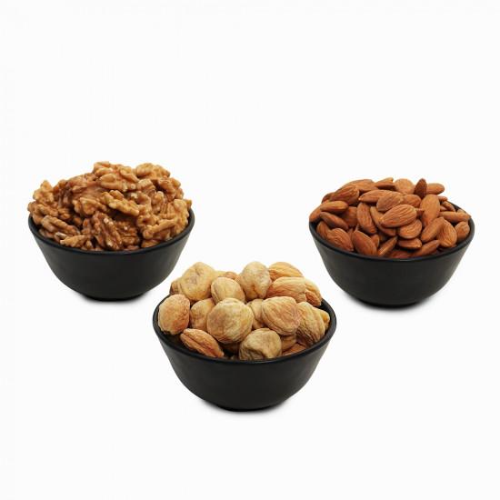 Premium Value Pack of Walnut, Apricot and Almond (Akhrot, Khubani, Badam)
