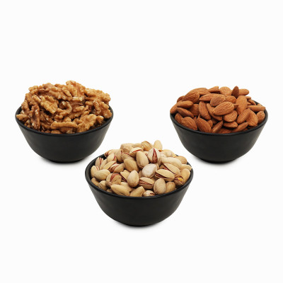 Premium Value Pack of Walnut, Pistachio and Almond (Akhrot, Pista, Badam)