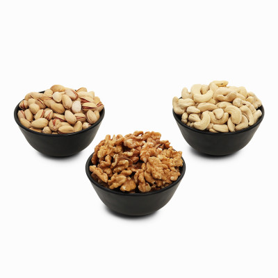 Premium Value Pack of Walnut, Pistachio, and Cashew (Akhrot, Pista, Kaju)